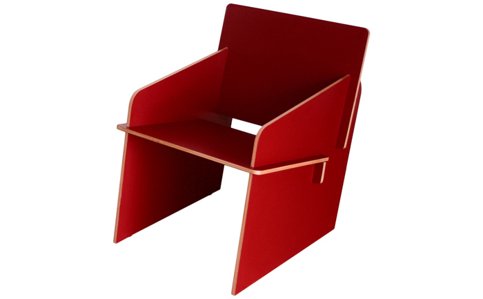 Photo FLAT KIT Armchair in red